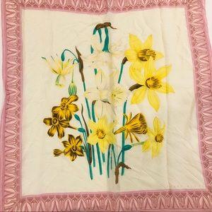 Vintage Perry Ellis Silk?? Daffodil Scarf
